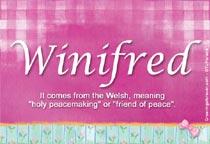 Name Winifred