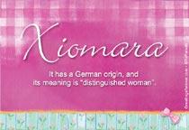 Name Xiomara