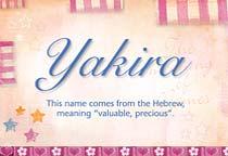 Name Yakira