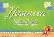 Name Yasmeen