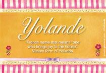 Name Yolande