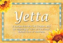 Name Yetta