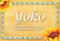 Name Yoko