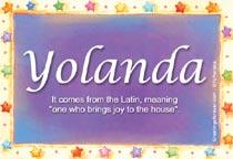 Name Yolanda