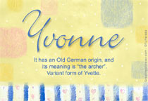 Name Yvonne