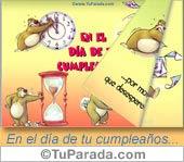 Tarjetas postales: En el día de tu cumpleaños...