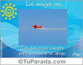 Tarjetas postales: Los Amigos son...
