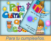 Tarjetas postales: Para tu cumpleaños quiero...