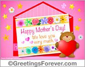 Ecards: Happy Mothers Day with little bear