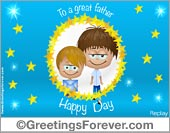 Father´s day animated ecard