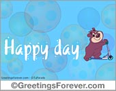 Ecards for children - Greeting ecards: Happy day with little bear