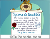 Tarjetas, postales: Diploma de insufrible