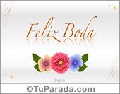 Bodas - Tarjetas postales: Tarjeta de bodas