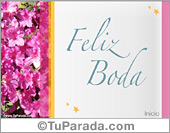 Tarjetas postales: Tarjeta de feliz boda
