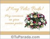 Tarjeta con adorno floral de bodas