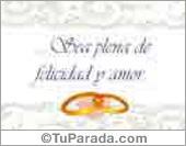 Bodas - Tarjetas postales: Tarjeta de bodas blanca
