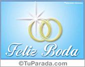 Bodas - Tarjetas postales: Tarjeta de bodas con anillos