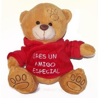 oso con mensaje eres un amigo especial peluches a toda