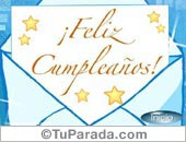 Tarjeta - Feliz Cumpleaños
