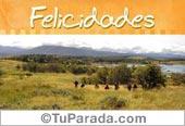 Tarjetas postales: Felicidades con paisaje de lagos