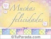 Tarjetas postales: Muchas Felicidades