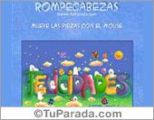 Tarjetas postales: Tarjeta Rompecabezas de Felicidades