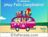 Tarjeta - Te deseamos un Muy Feliz Cumpleaños