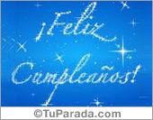 Tarjeta - Feliz cumpleaños con estrellas
