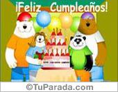 Tarjeta - Feliz Cumpleaños de todo el grupo.