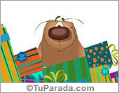Tarjeta - Muchos regalos