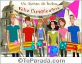Tarjeta de cumpleaños de grupo