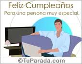 Cumpleaños para hombres - Tarjetas postales: Feliz Cumpleaños para alguien especial.