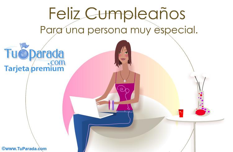 Tarjeta - Feliz Cumpleaños para una persona especial.