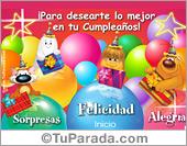 Tarjeta de Globos de cumpleaños