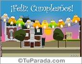 Cumpleaños - Tarjetas postales: Hoy quise saludarte primero que todos...