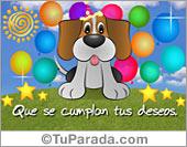 Te envío un perrito de cumpleaños
