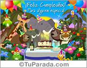 Tarjetas postales: Feliz cumpleaños selvático