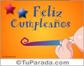 Tarjeta - Feliz cumpleaños festivo y con estrellas