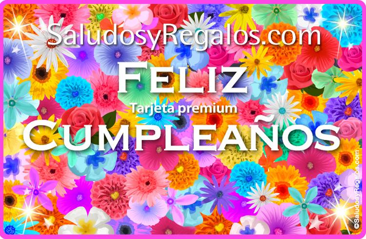 Tarjeta - Tarjeta de cumpleaños con flores