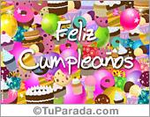 Tarjetas postales: Tarjeta festejo de cumpleaños