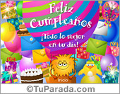 Tarjetas postales: Tarjeta de feliz cumpleaños
