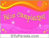 Tarjetas postales: Tarjeta de cumpleaños multicolor