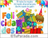 Cumpleaños - Tarjetas postales: Tarjeta de felicidades