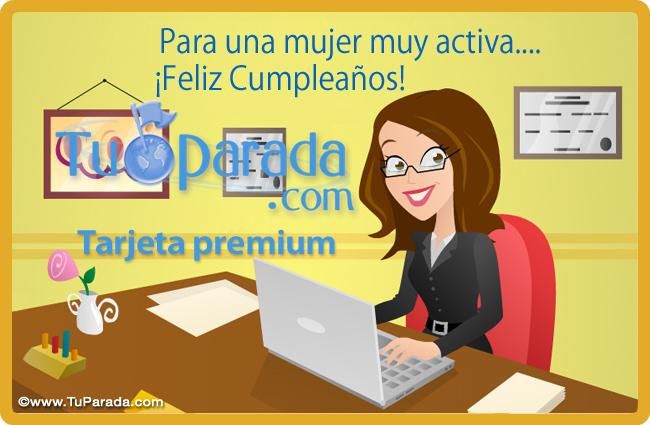 Tarjeta - Tarjeta de cumpleaños para mujer activa