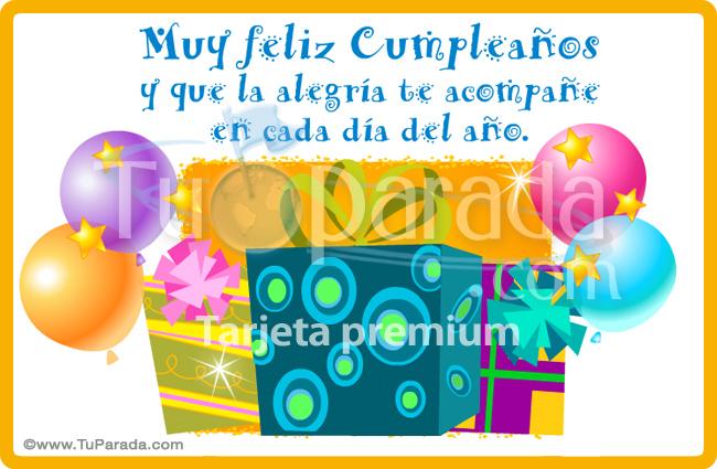 Tarjeta - Tarjeta de cumpleaños