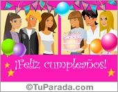 Cumpleaños - Tarjetas postales: Postal de feliz cumpleaños