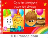Cumpleaños - Tarjetas postales: Deseos de cumpleaños