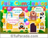 Cumpleaños para niños - Tarjetas postales: Mensajes de cumpleaños