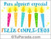 Cumpleaños para amigos - Tarjetas postales: Tarjeta con velas de cumpleaños