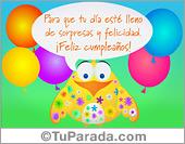 Cumpleaños para amigos - Tarjetas postales: Saludos de cumpleaños con vuelo